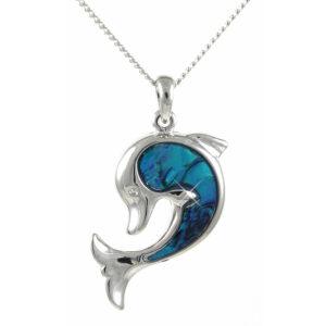 Wholesale paua shell pendants lila angelys dolphin large 38mm aloadofball Image collections