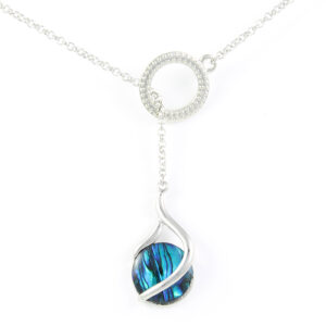 Paua Shell Lariat Necklaces